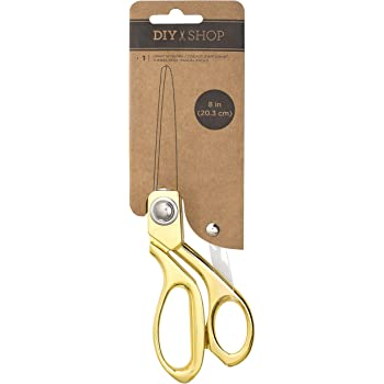 8-inch DIY Shop Craft Scissors by American Crafts | Gold