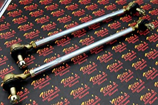 2 X New Vito's Yamaha Banshee Silver Tie Rods/Ball Joints Stock Length Kit R And L
