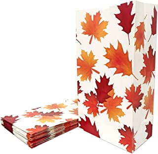 Fall Leaves Party Treat Bags Autumn Gift Bags 24ct