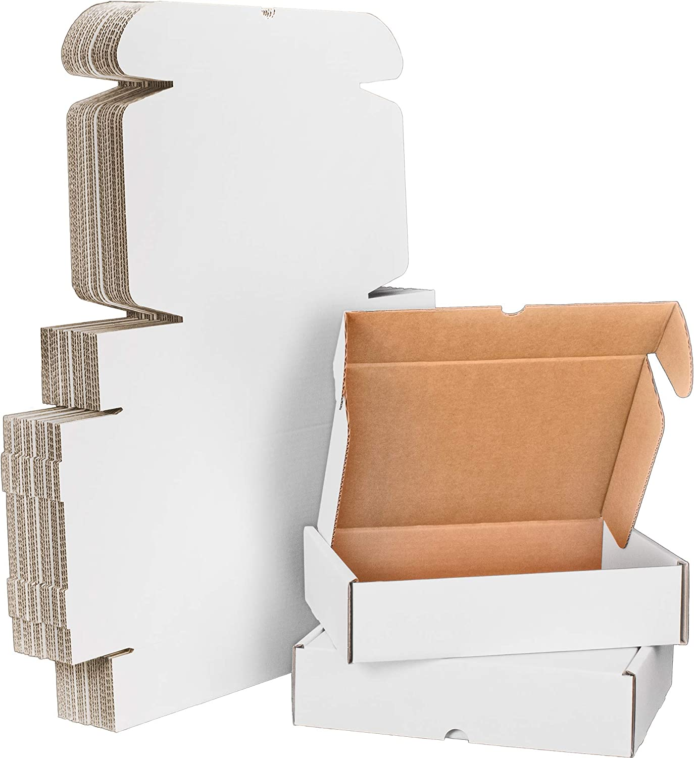 12x9x3 Heavy-Duty Free Shipping New White Corrugated Small Cardboard All stores are sold Mailer P Box