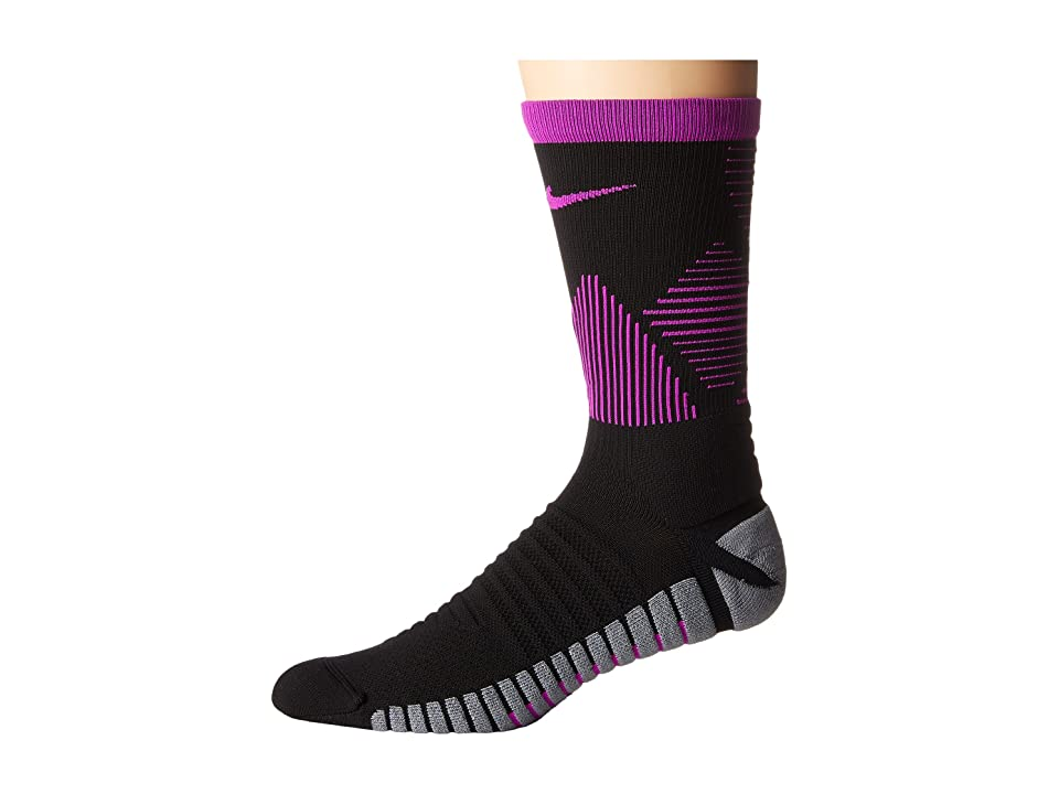 Nike Strike Mercurial Soccer (Black/Hyper Violet/Hyper Violet) Crew Cut Socks Shoes