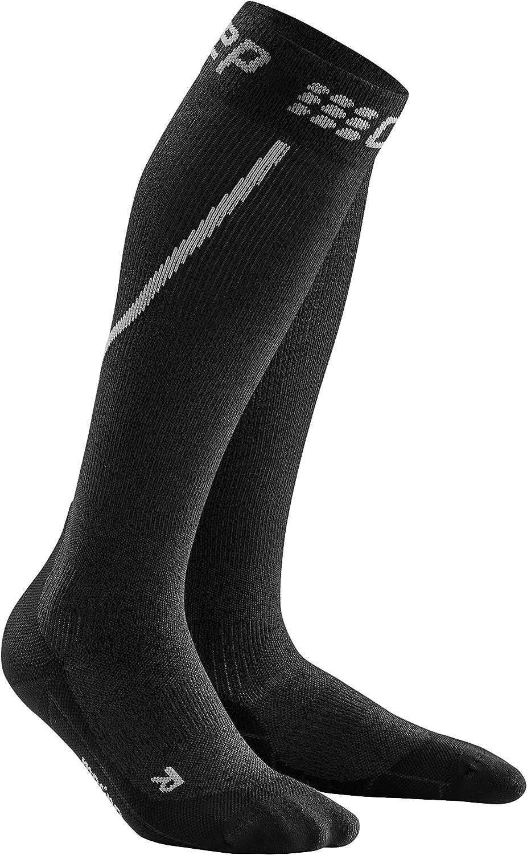 Men's Long Compression Wool Socks - CEP Trail Merino, Athletic Long Socks