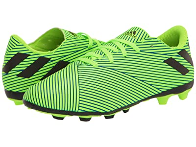 adidas Kids Nemeziz 19.4 FxG J Soccer (Little Kid/Big Kid) (Signal Green/Black/Team Royal Blue) Kids Shoes