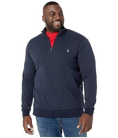 Polo Ralph Lauren Big & Tall Quarter Zip Double Knit Sweater (Aviator Navy) Men