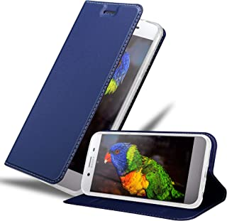 Cadorabo Book Case Works with Sony Xperia XZ Premium in Classy Dark Blue - with Magnetic Closure, Stand Function and Card Slot - Wallet Etui Cover Pouch PU Leather Flip