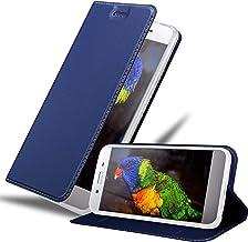 Cadorabo Book Case Works with Sony Xperia XZ Premium Wallet Etui Cover Sony Xperia XZ Premium CLASSY DARK BLUE DE-133792