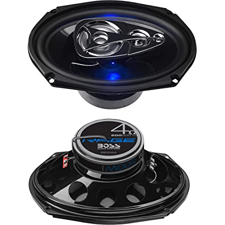 BOSS Audio Systems BE694 6 x 9 Inch Car Speakers - 500 Watts of Power Per Pair, 225 Watts Each, Full Range, 4 Way, Sold in Pairs
