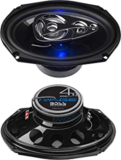 BOSS Audio Systems BE694 6 x 9 Inch Car Speakers - 500 Watts of Power Per Pair, 225 Watts Each, Full Range, 4 Way, Sold in...