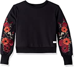 7 For All Mankind Girls' Embroidered Pop-Over Sweatshirt
