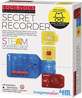 4M Logiblocs E-Building Blocks System Secret Recorder Kids Science Kit