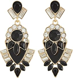 GUESS - Clustered Stone Drop Statement Earrings