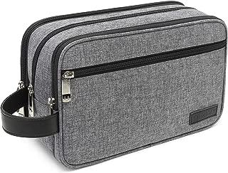 Toiletry Bag for Men Waterproof Dopp Kit Travel Bags for Shaving Shower Bathroom Toiletries Cosmetic Organizer Women Gray