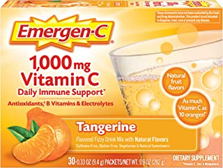 Emergen-C 1000mg Vitamin C Powder, with Antioxidants, B Vitamins and Electrolytes, Vitamin C Supplements for Immune Suppor...