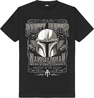 The Mandalorian - Camiseta para hombre, diseño de Star Wars de algodón, color negro