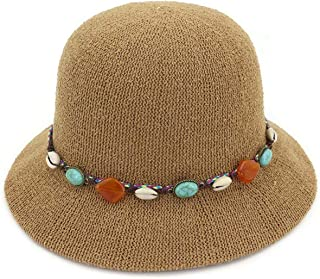 869ffea6465f3 Rising ON 2018 New Summer Sunhat for Women Colorful Stone UV Protect Cap  for Girls Bow
