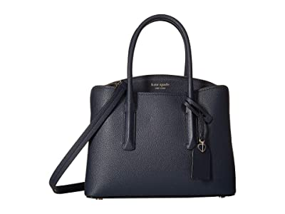 Kate Spade New York Margaux Medium Satchel (Blazer Blue) Satchel Handbags