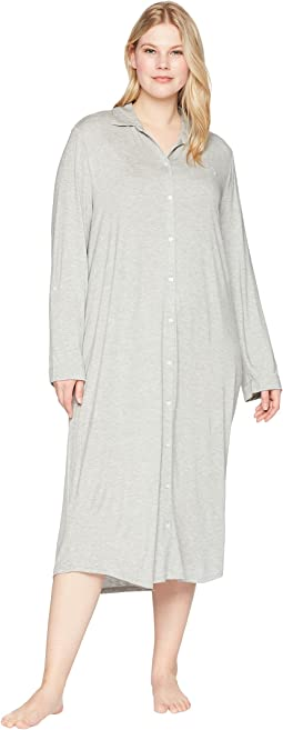 Plus Size Long Sleeve Roll Tab Ballet Sleepshirt