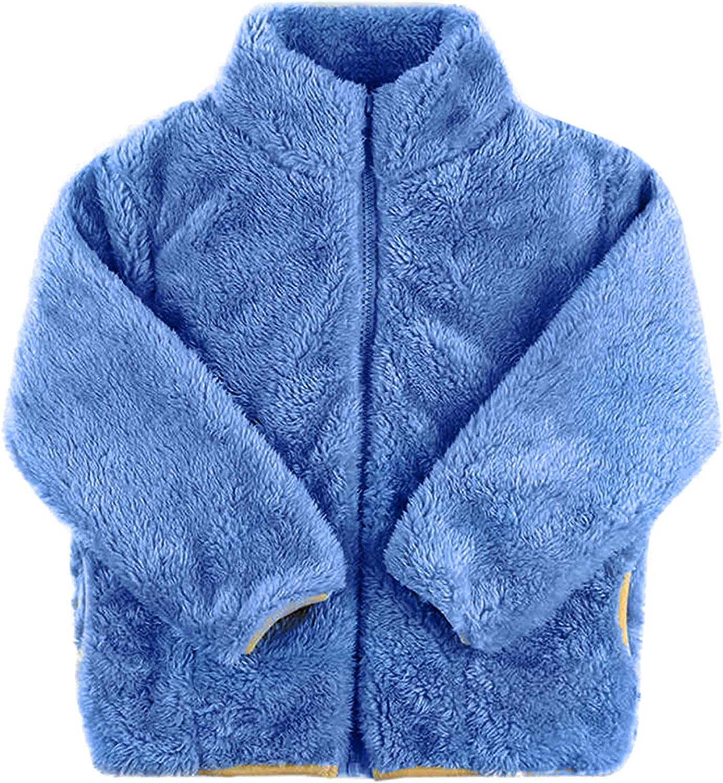 Baby Toddler Boys Girls Fleece Jacket Coat Spring/Winter Warm Cardigan Outwear