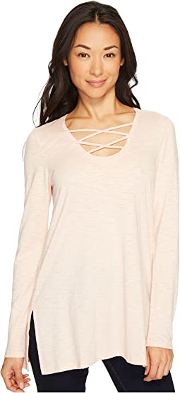 Lilla P - Long Sleeve Laced Neck Tunic