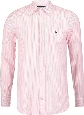 Camisa Tommy Hilfiger Rayas Rosa Hombre L Rosa : Amazon.es: Ropa