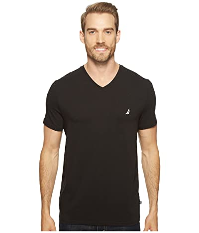Nautica Slim Fit V-Neck T-Shirt (True Black) Men