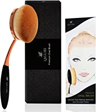 Lagure Oval Makeup Brush - The Perfect Cruelty Free Makeup Brush for Foundation, Concealer, Contour Kit and Face Powder that Shortcuts Your Makeup Routine Without Leaving any Line Streaks