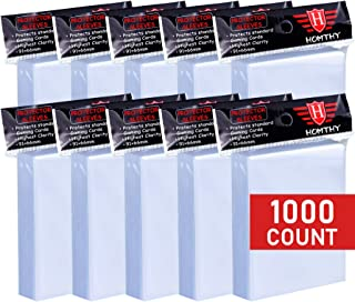 1000 Counts Card Sleeves Toploaders for Trading Card, Soft Clear Baseball Card Sleeves Fit for Football Card, Sports Cards...