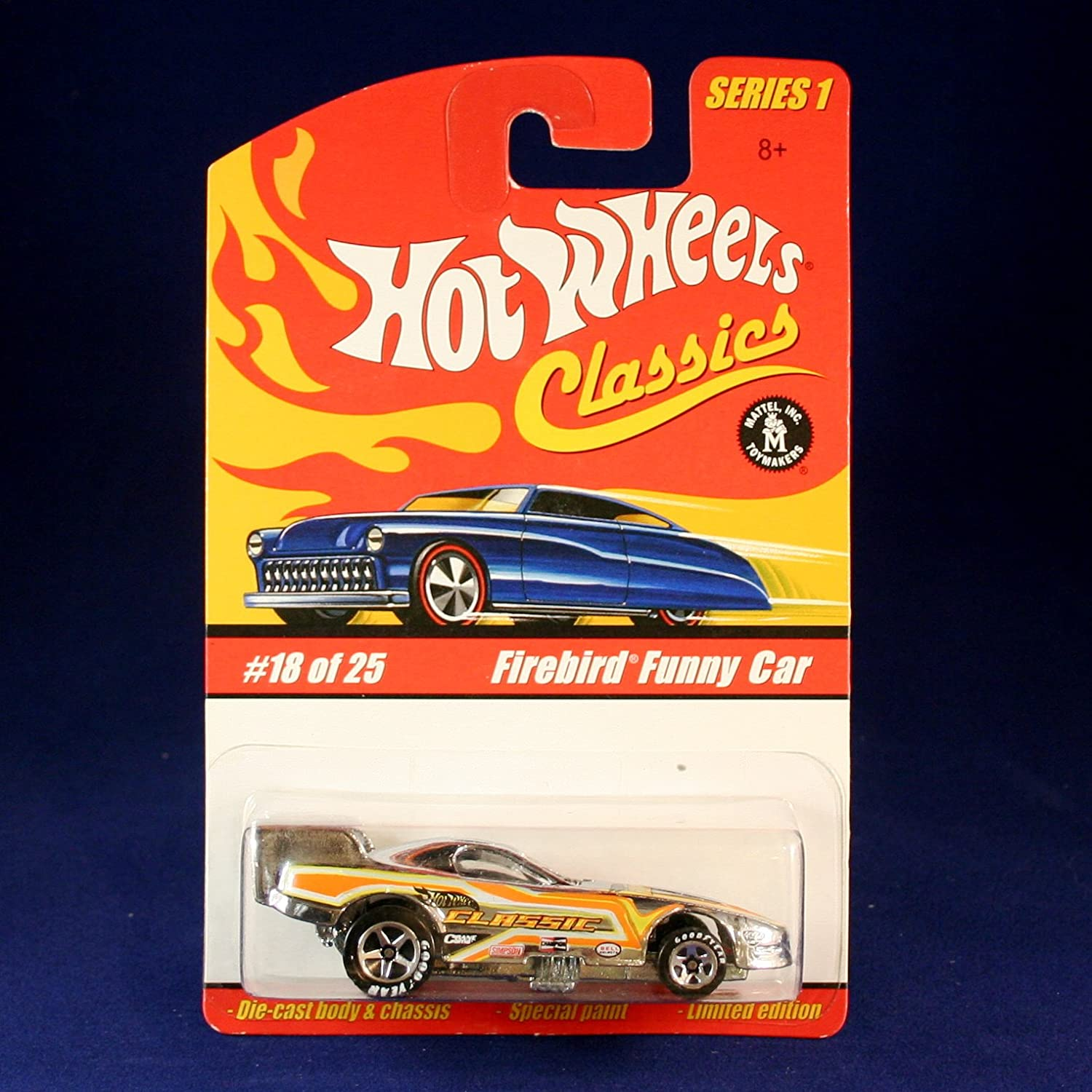 FIREBIRD FUNNY CAR (CHROME) 2004 Hot Wheels Classics 1 64 Scale SERIES 1 Die Cast Vehicle