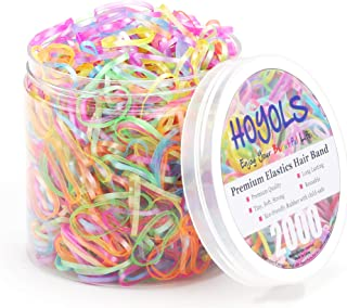Hoyols Infant Toddler Elastic Hair Ties Small Mini Color Rubber Bands for Baby Girls Kids 2000pcs Bulk