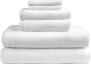 Everplush Diamond Jacquard Bath Sheet Towel Set, 6 Piece, White