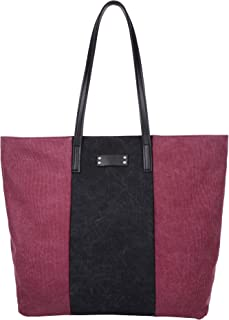 Sacs HM&DX Toile fourre-tout sacs hobo épaule grocery féminines avec fermeture éclair shopping sac à lunch pour l'école voyage plage pique-nique camping de datant de sortie gym yoga-blanc cassé