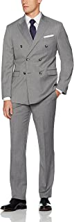 Men's Double Breasted Modern Fit 6 Button Suit