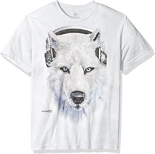 Men's White Wolf Dj Tri-Blend T-Shirt