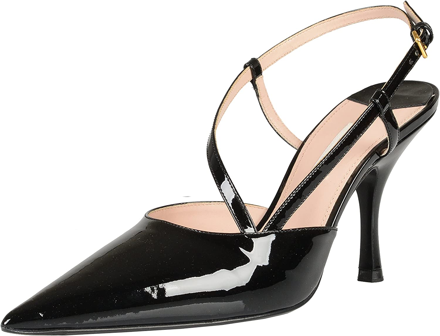 MIU MIU Black Patent Leather Pointy Toe High Heel Pumps shoes US 5 IT 35