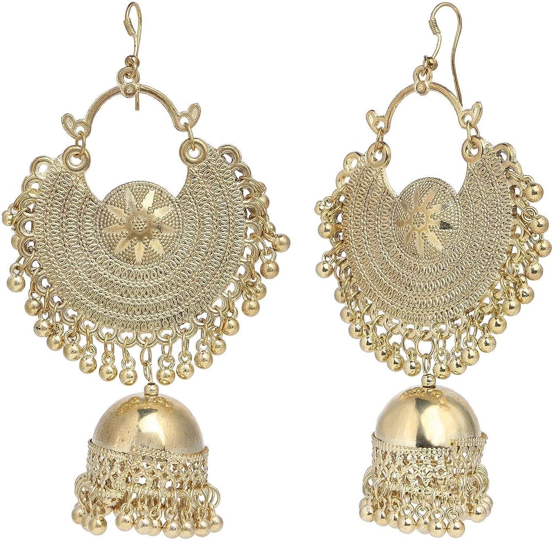 dangle earrings Indian jewellery Silver statement earrings chandelier earrings wedding jewelry