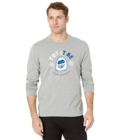 Life is Good Long Sleeve Crusher Yet It Be (Heather Gray) Men