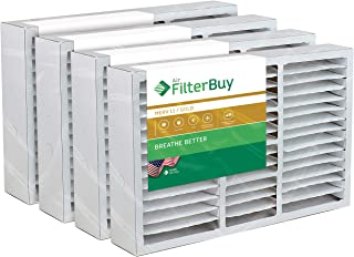 FilterBuy 16x25x5 Honeywell FC200E1029 Compatible Pleated AC Furnace Air Filters (MERV 11, AFB Gold). Replaces Honeywell 203719, FC35A1001, FC100A1026, FC100A1029 and Carrier FILXXCAR0016. 4 Pack.