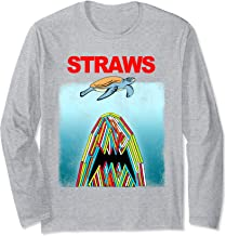 Save The Sea Turtles Conservation Gift Shirt Anti Straws Long Sleeve T-Shirt
