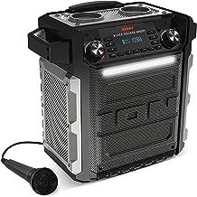 ION Audio Block Rocker Sport - 100 W Waterproof (IPX4) Outdoor Wireless Bluetooth Speaker with LED Light Bar, Radio, Aux I...