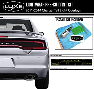 Luxe Auto Concepts 2011-14 Dodge Charger Tail Light Tint Kit - Dark Smoke Steatlh