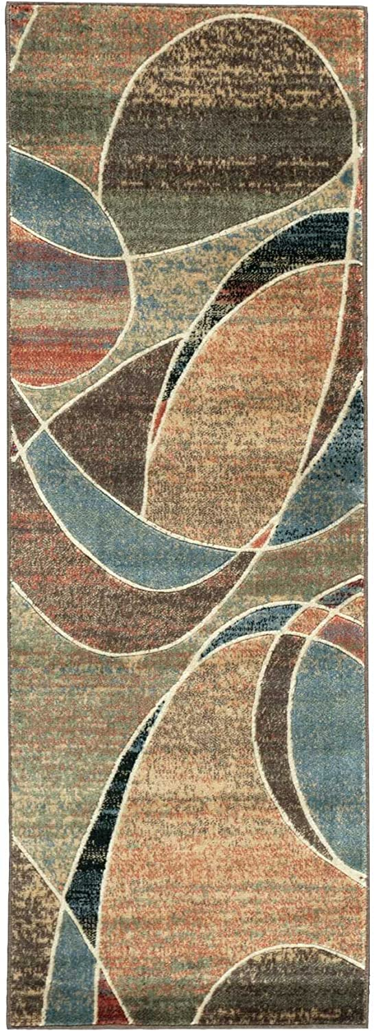 Nourison Expressions (XP07) Multicolor Runner Area Rug, 2-Feet by 5-Feet 9-Inches (2' x 5'9 )
