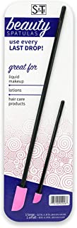 S & T 599801 Beauty Spatulas Black/Pink, 2 Piece Set