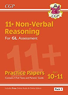 11+ GL Non-Verbal Reasoning Practice Papers: Ages 10-11 Pack 1 (inc Parents' Guide & Online Ed)