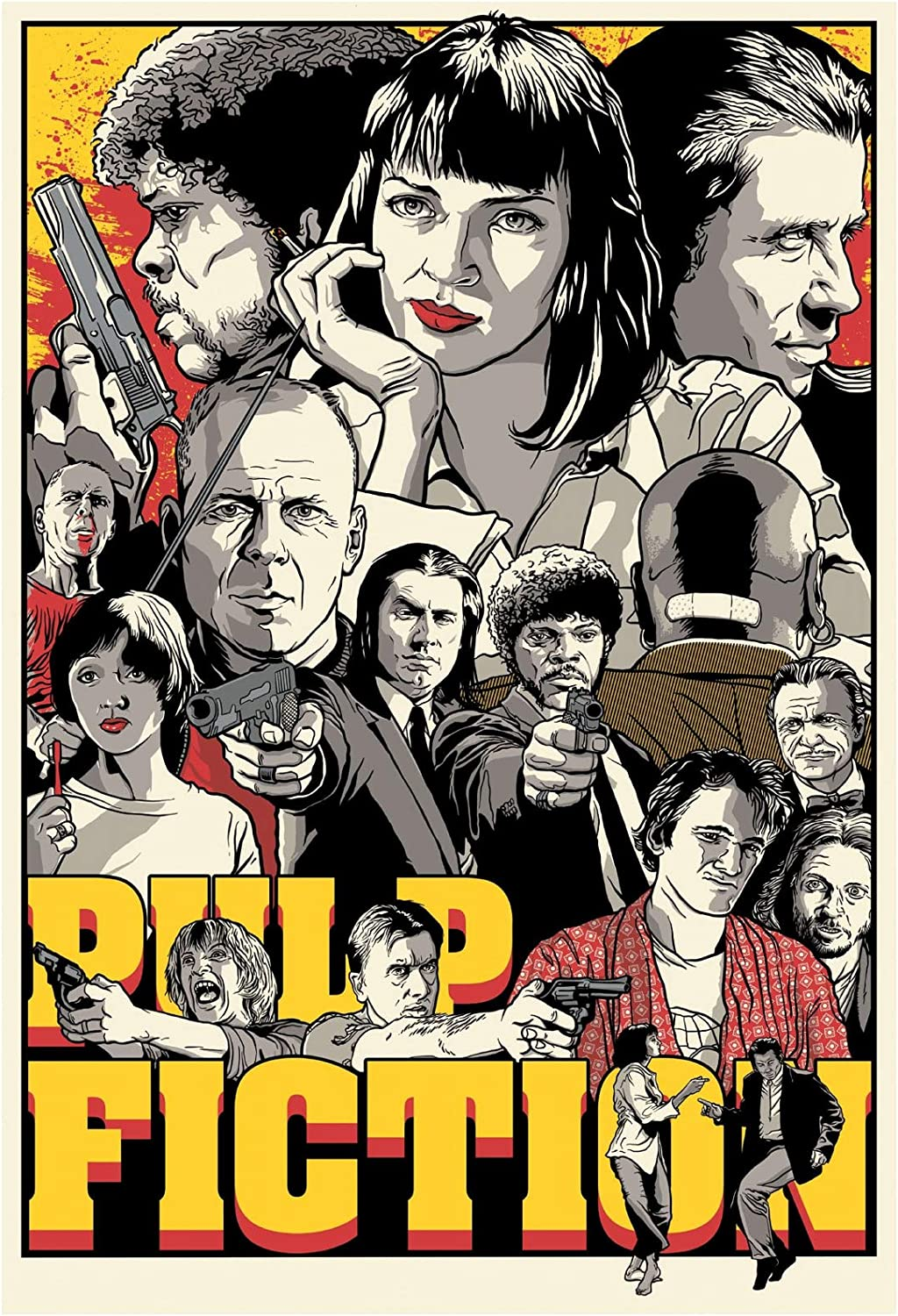 Buy Pulp Fiction Movie Poster 20 x 20 Inches Full Sized Print ...