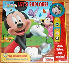Mickey Mouse Clubhouse Let's Explore Take a Closer Look a Magnifying Glass and Sound Book