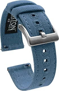 BARTON Watch Bands - Canvas Quick Release Watch Straps - Choose Color & Width - 18mm, 19mm, 20mm, 21mm, 22mm, or 23mm