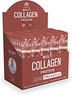 Ancient Nutrition Multi Collagen Protein Powder Stick Packs, 5 Types of Food Sourced Collagen, Providing Types I, II, III, V, and X, 0.36oz, 40 Count