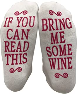 JINX If You Can Read This Bring Me Some Wine Gift Socks - Perfect Hostess or Housewarming Gift Idea, Birthday Present, or ...