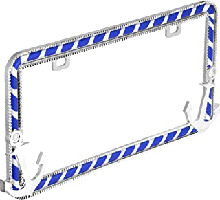 Bell Automotive 22-1-46482-8 Universal Chrome Pink Ruby Design License Plate Frame