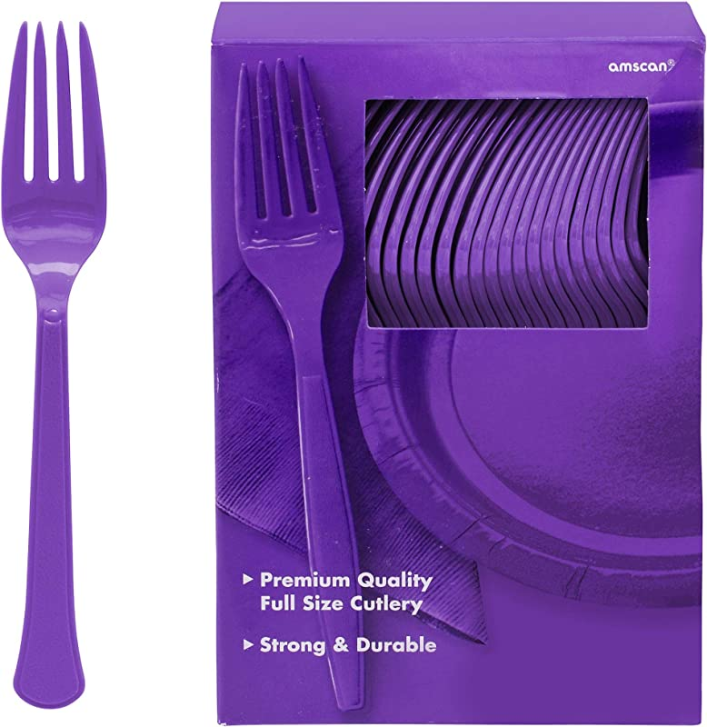 Big Party Pack Plastic Forks New Purple 100 Ct Party Supply